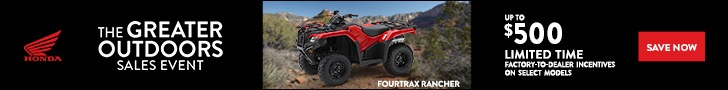 The Great Outdoors Sales Event offer on Honda Rancher
