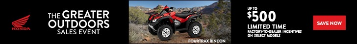 The Great Outdoors Sales Event offer on Honda Rincon