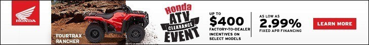 Check out Honda's ATV Clearance Event!
