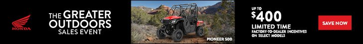 The Greater Outdoors Sales Event offer on Honda Pioneer 500