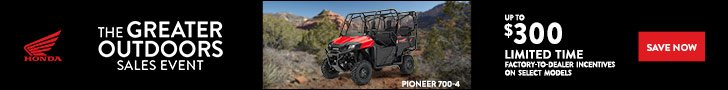 The Greater Outdoors Sales Event offers on Honda Pioneer 700