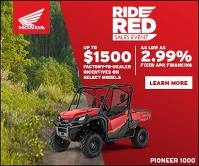 2018 Honda Pioneer Ride Red Incentive Promotion