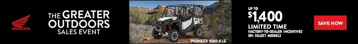 The Greater Outdoors Sales Event offer on Honda Pioneer 1000-5 LE