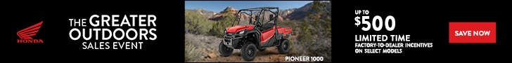The Greater Outdoor Sales Event offers on Honda Pioneer 1000